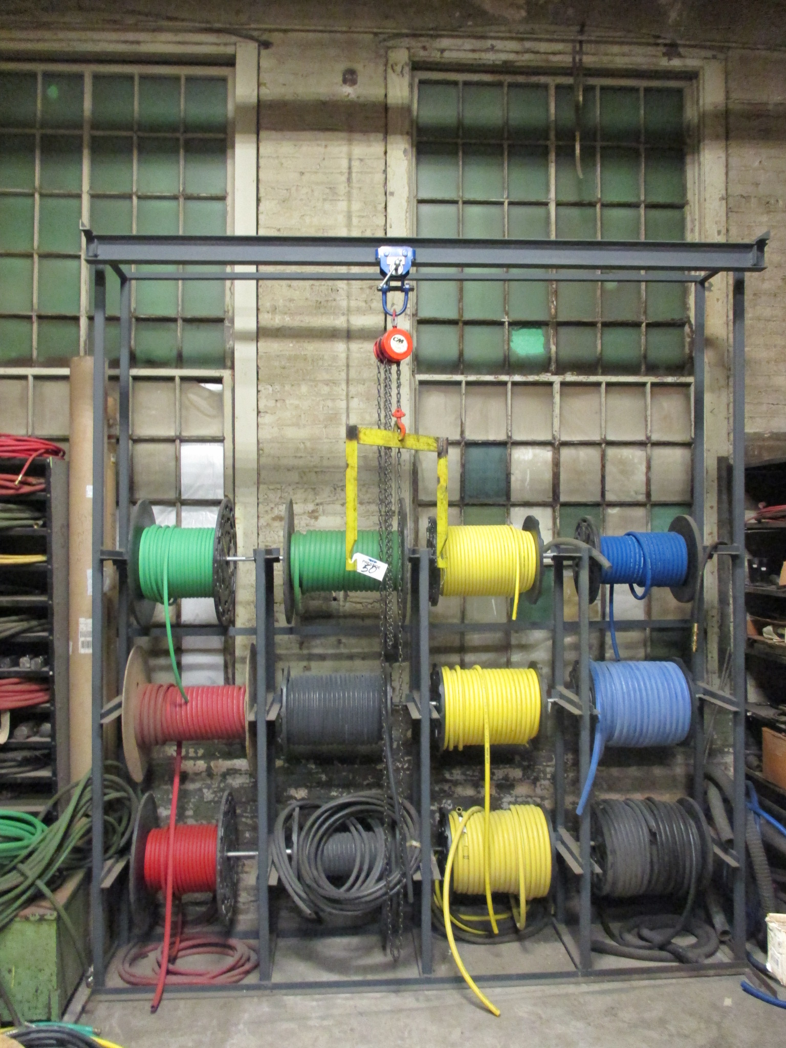 SPOOL STORAGE RACK, 12 SPOOL CAPACITY , CM CHAINFALL WITH SPOOL ...