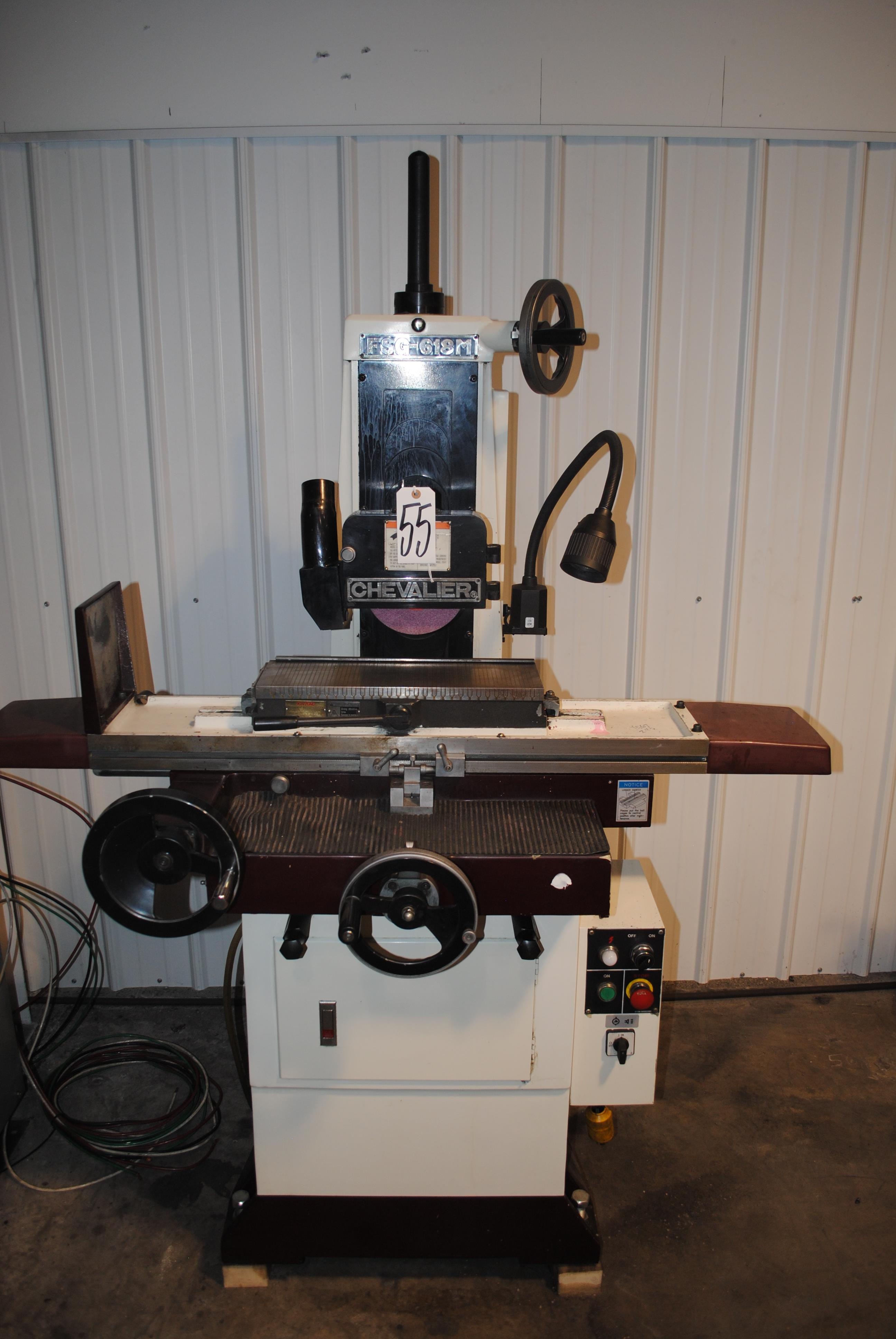 """Lot 55 - Chevalier Manual Surface Grinder; 6"""" x 18"""" Fine Pole Magnetic"""