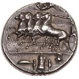 Sicily, Syracuse. Dionysios I. Silver Decadrachm (43.14 g), 405-367 BC About EF. Ca. 405-400 BC.