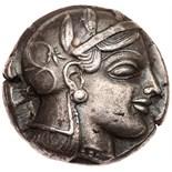 Attica, Athens. Silver Tetradrachm (16.93g), ca. 459-449 BC EF. Struck during the period of Cimon'
