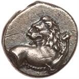 Thrace, Cherronesos. Silver Hemidrachm (2.07 g), ca. 386-338 BC VF. Forepart of lion right, head