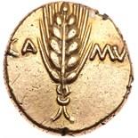 Britain, Trinovantes and Catuvellauni. Cunobelin. Gold Stater (5.35 g), ca. AD 1. Trinovantian X.