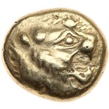 Lydian Kingdom. Ardys to Alyattes. Electrum Trite (4.62 g), ca. 630s-564/53 BC C. Sardis. Head of