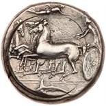 Sicily, Syracuse. Dionysios I. Silver Tetradrachm (17.42 g), 405-367 BC Choice V. Ca. 405-400 BC.