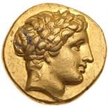Macedonian Kingdom. Philip II. Gold Stater (8.52 g), 359-336 BC EF. Amphipolis, ca. 340-336 BC.