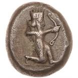 Achaemenid Kingdom. Darios I to Xerxes I. Silver Siglos (5.27 g), ca. 505-480 BC. Persian king or