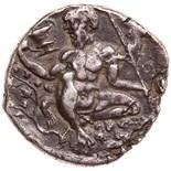 Sicily, Naxos. Fourree Tetradrachm (13.61 g), ca. 430-420 BC VF. Head of Dionysos right, wearing