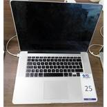 Apple MacBook Pro i7 15in, 2.2ghz Processor, 16gb RAM, 256gb SSD, A1398, s/n C02NG109G3QN with