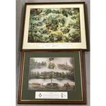 Two mounted & framed military colour prints.