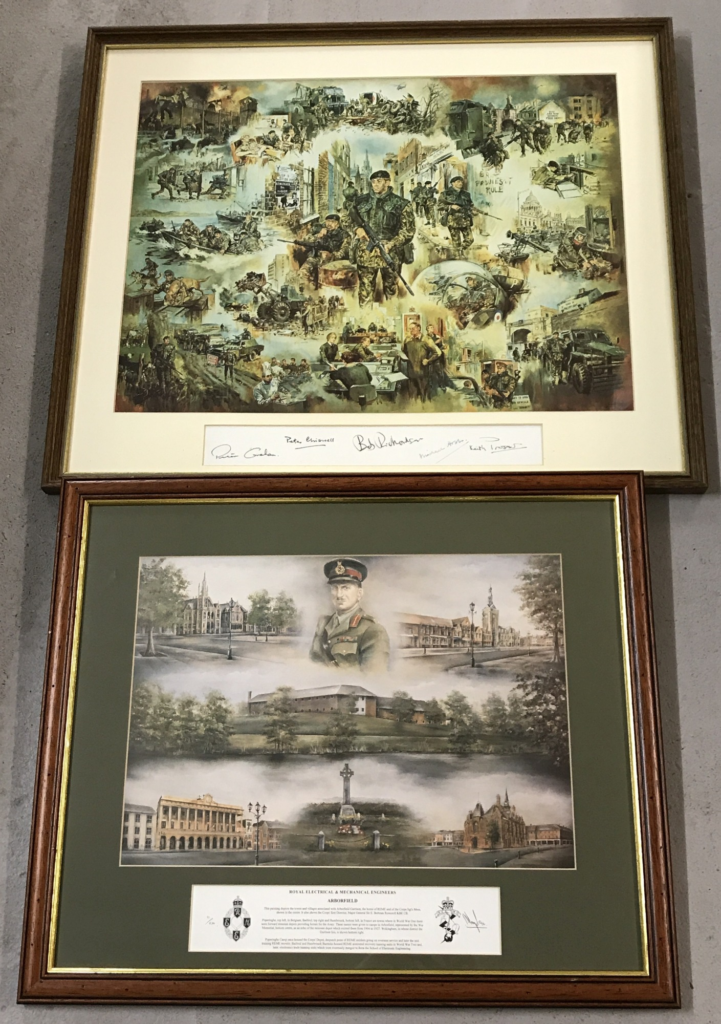 Lot 130 - Two mounted & framed military colour prints.