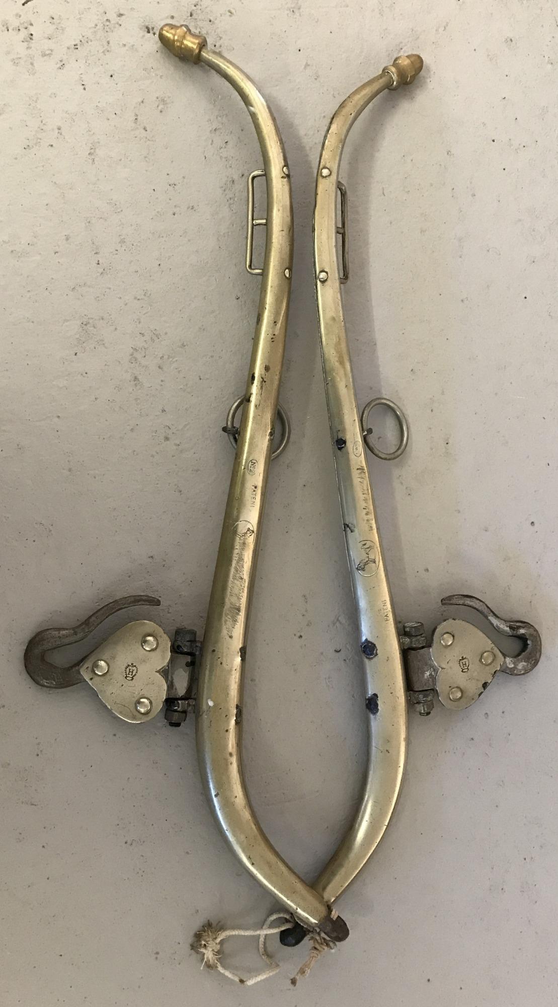 Lot 116 - A pair of vintage brass hames.