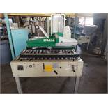 STA520 Top and Bottom Case Sealer, S/N AZ026717, Yr. 2005, 110 Volt, 2-Heads, Casters (Located