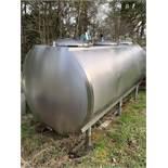 Mojonnier 600 Gal. Single Compartment S/S Tank, S/N 13740-3, Needs Agitator Motor (Located Lorretto