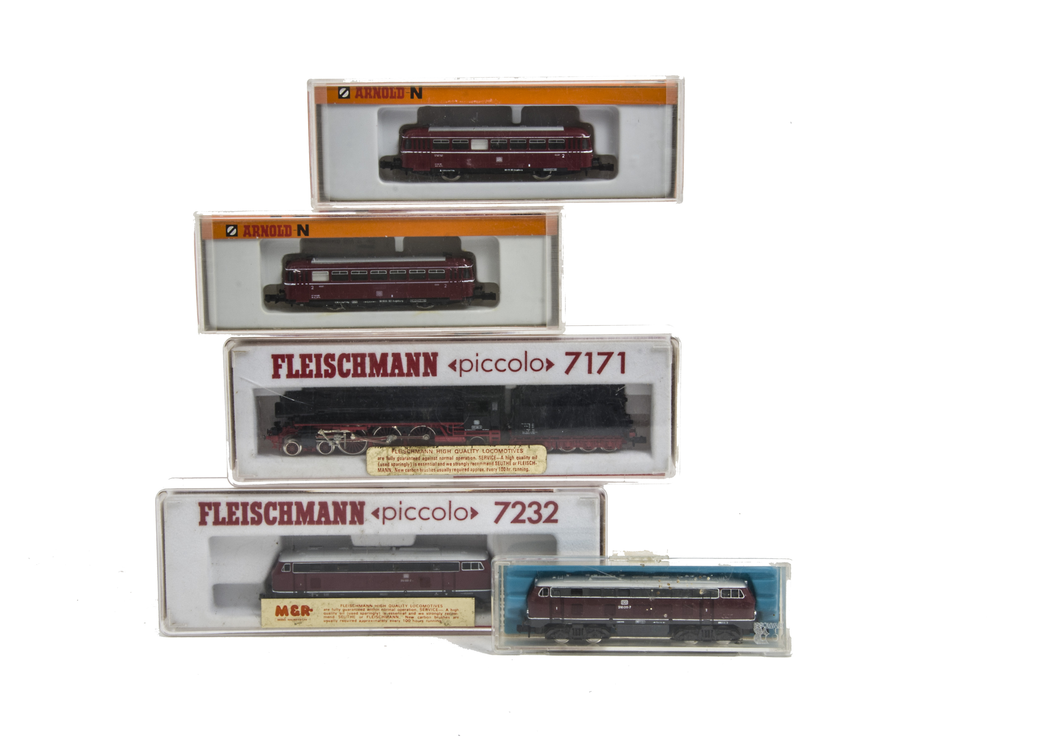 N gauge EXCELLENT Fleischmann Piccolo 7232 Diesel DB red grey RUNS WELL /& NICE