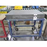 """Challenge 24"""" x 36"""" x 4"""" Granite Surface Plate w/ Cart (SOLD AS-IS - NO WARRANTY)"""