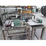 """Unipunch 18"""" x 24"""" Die Base and (7) C-Frame Unipunch Dies w/ Carts (SOLD AS-IS - NO WARRANTY)"""
