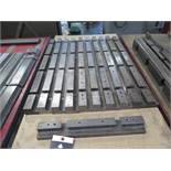 Amada Press Brake Tooling Bases w/ Cart (SOLD AS-IS - NO WARRANTY)