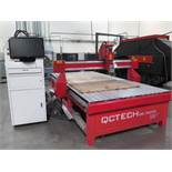 QC Tech 5' x 10' CNC Router w/ 3Hp Spindle, Computer (SOLD AS-IS - NO WARRANTY)