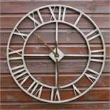 Boxed Rustic Jon art Design Large Clock RRP £18 (16904) (Public Viewings And Appraisals Available)