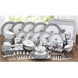 Boxed 80 Piece Grey Heart Combo Dinner Set For 6 RRP £80 (18201) (Public Viewings & Appraisals