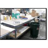 Worktables made from Medium Duty Shelving and Press Board Tops