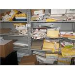 Shelving with Paper Contents