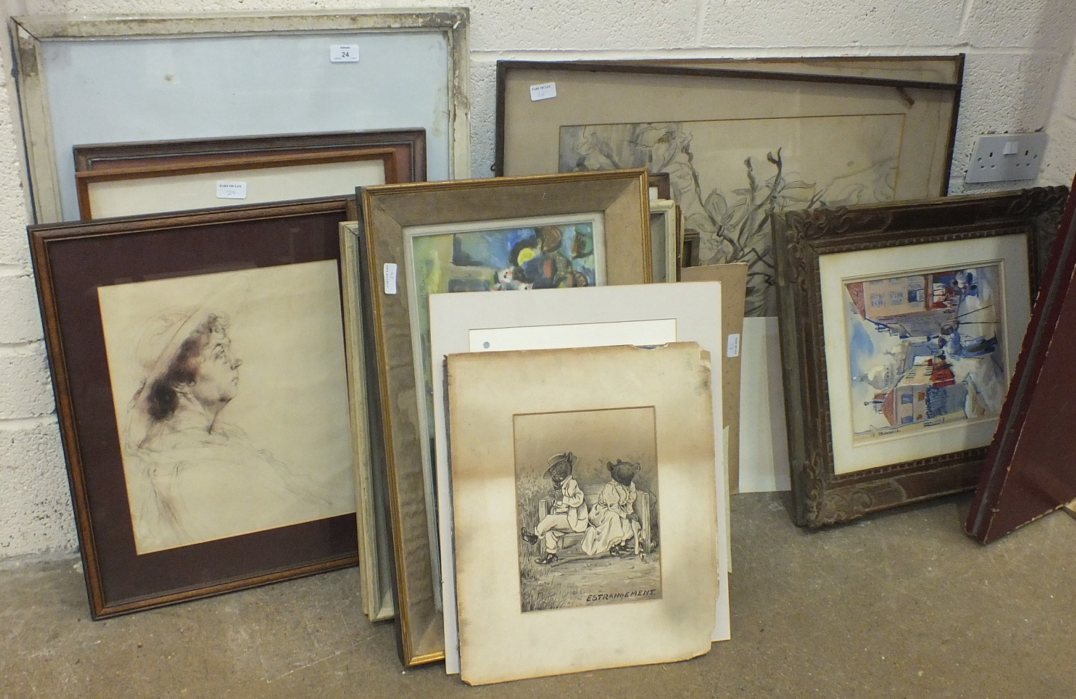 Lot 24 - A collection of various watercolours.
