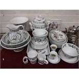 Forty-one pieces of Portmeirion 'The Botanic Garden' decorated dinner and table ware, including a