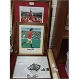 """A Westminster Mint framed 1966 """"World Cup Heroes"""" Autographed Presentation, comprising a"""