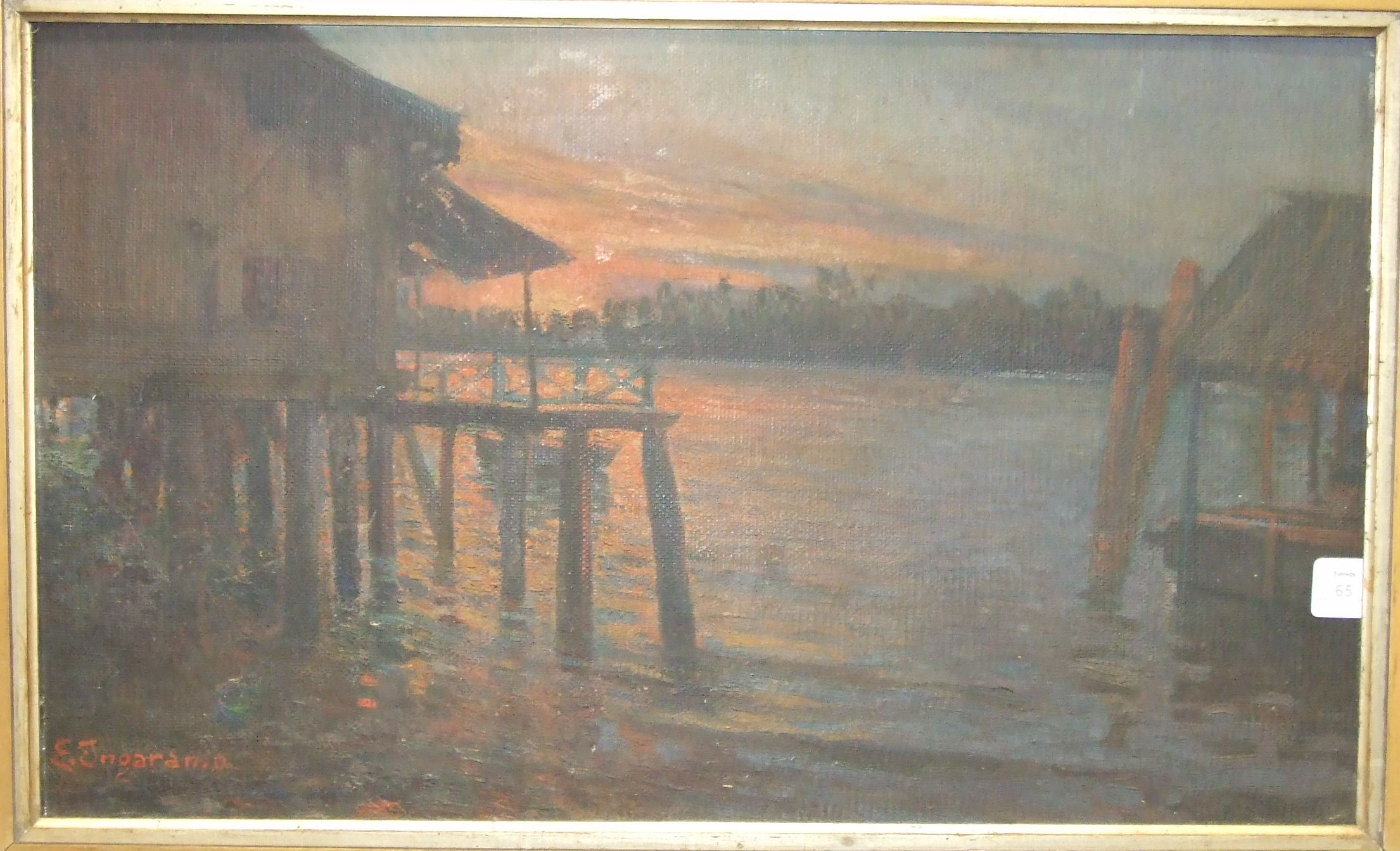 A** Herbert (20th century), 'The Tin Mission', oil on canvas, signed, also inscribed on the - Image 2 of 3