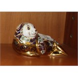 """A Royal Crown Derby paperweight, """"Harbour Seal"""", gold stopper, ltd edition, 2837/4500, 8cm high,"""