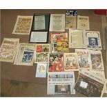 A quantity of Commando comics, approx 70 and other comics, etc.