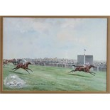 John Beer (1883-1915), 'The Lincolnshire Handicap 1912', signed watercolour, inscribed with