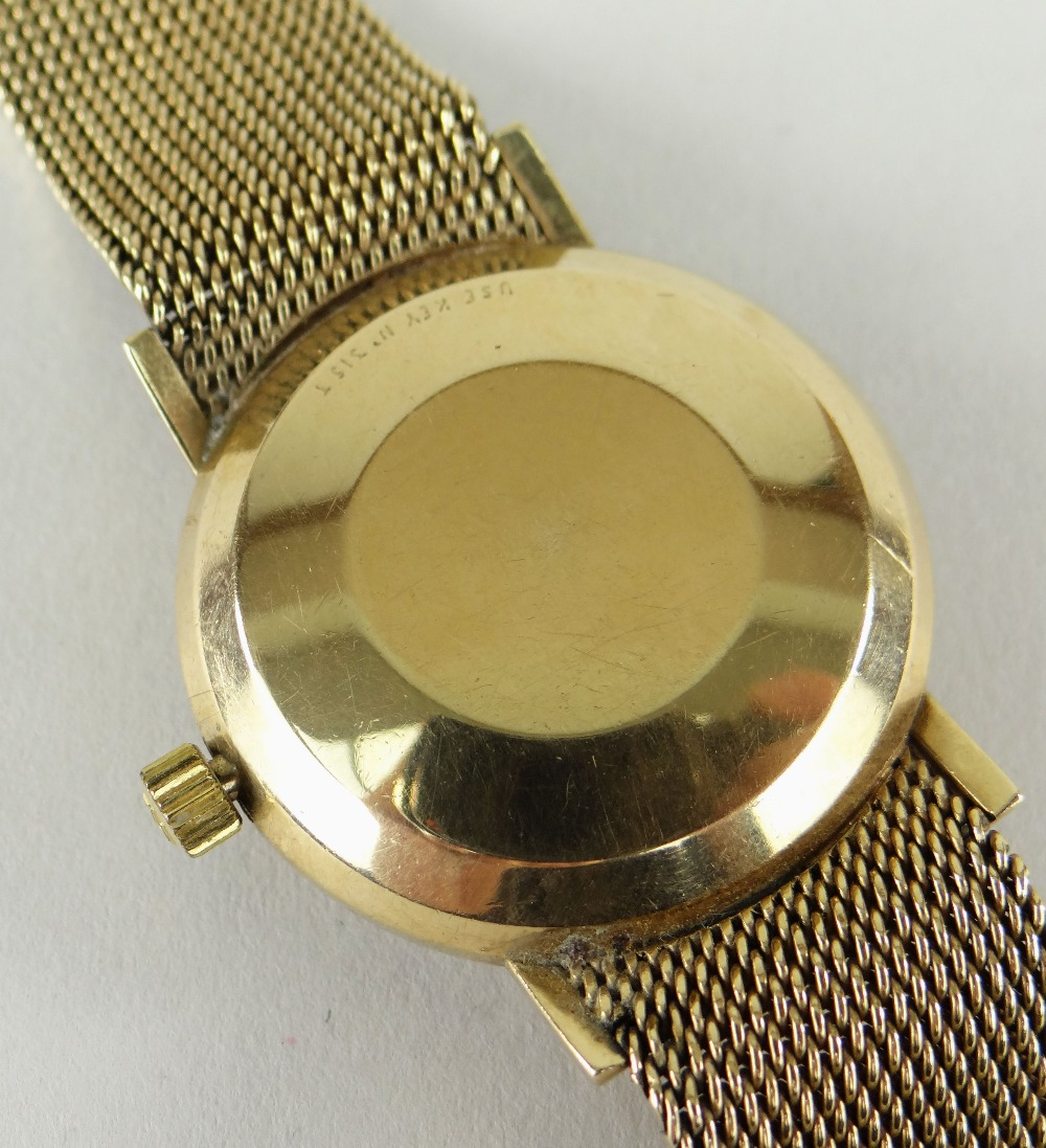 TISSOT AUTOMATIC 'SEASTAR SEVEN' 9CT GOLD WRISTWATCH having integrated 9ct gold strap and date - Image 5 of 5