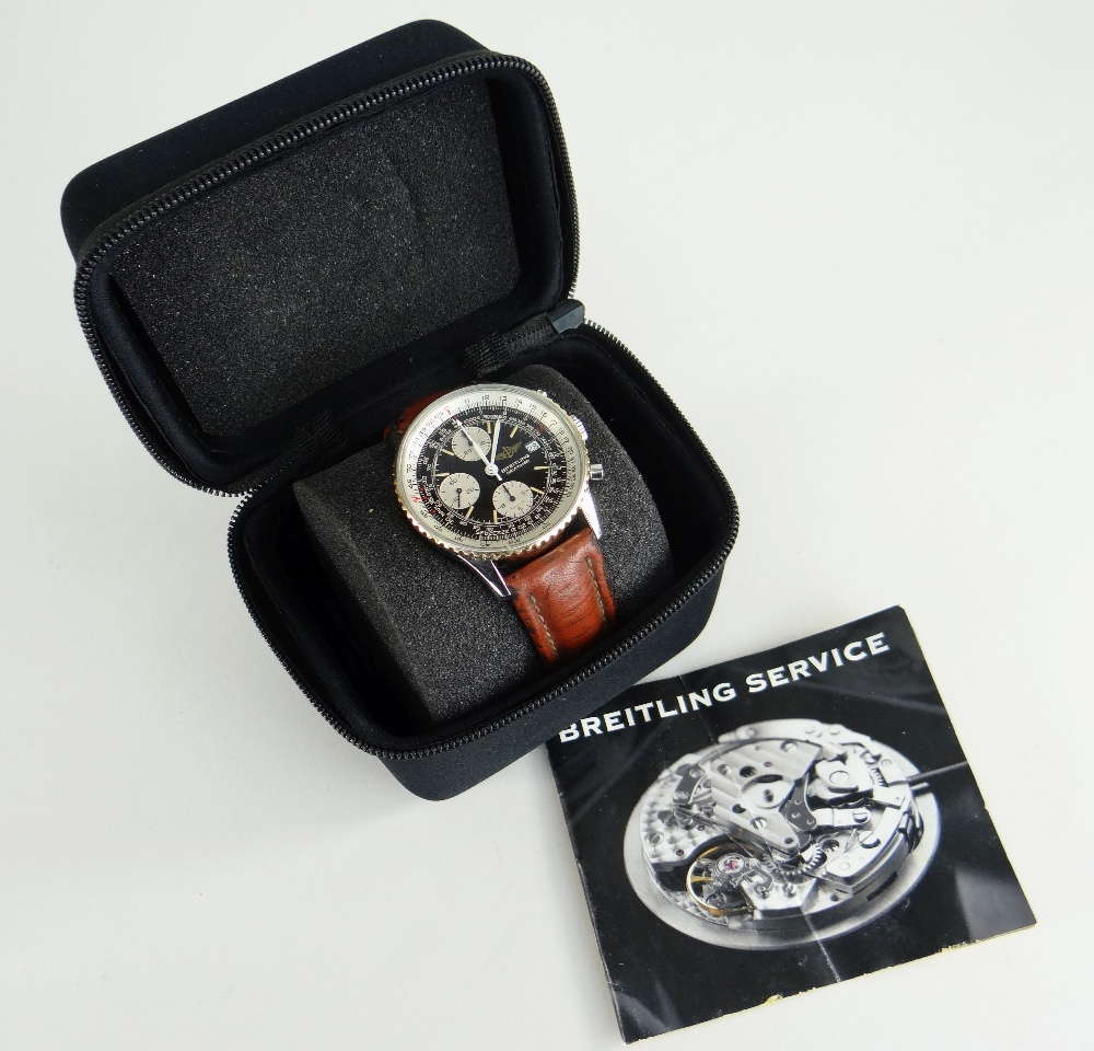 BREITLING NAVITIMER FIGHTERS EDITION STAINLESS STEEL CHRONOGRAPH WRISTWATCH, numbered to reverse ' - Image 7 of 7