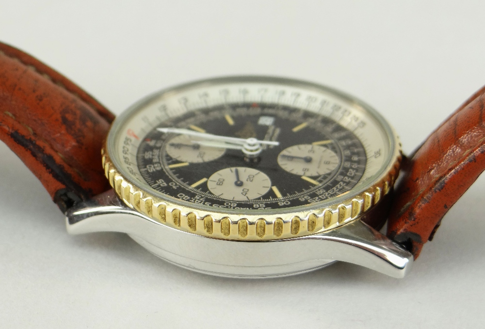 BREITLING NAVITIMER FIGHTERS EDITION STAINLESS STEEL CHRONOGRAPH WRISTWATCH, numbered to reverse ' - Image 3 of 7