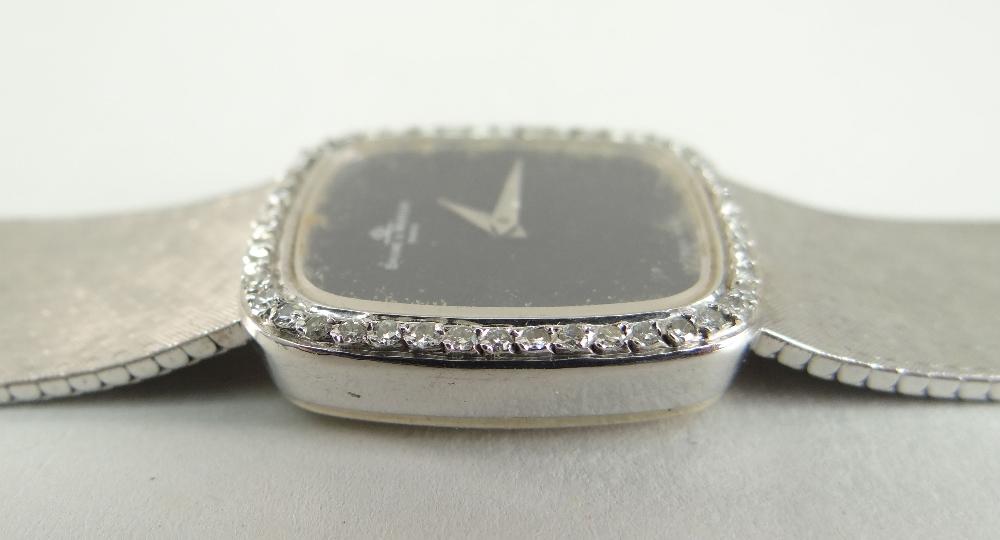 18CT WHITE GOLD (750) BAUME & MERCIER WRISTWATCH having diamond set bezel and integrated strap, 47.4 - Image 4 of 4