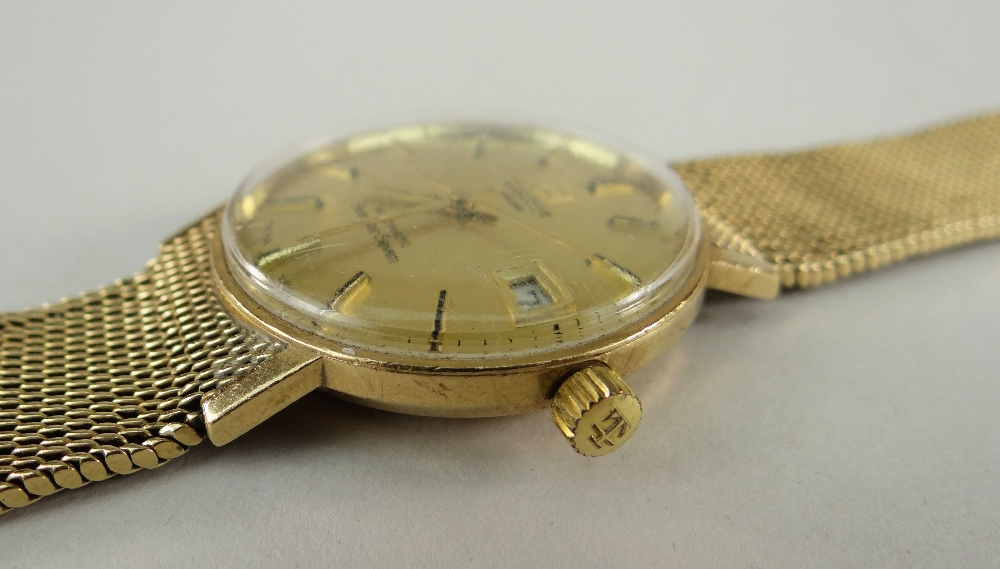 TISSOT AUTOMATIC 'SEASTAR SEVEN' 9CT GOLD WRISTWATCH having integrated 9ct gold strap and date - Image 3 of 5