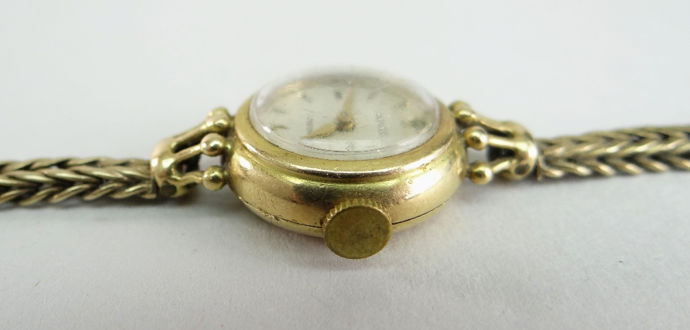 18CT YELLOW GOLD LADIES ROLEX PRECISION WRISTWATCH, the inside cover marked 'R. W. Co Ltd' and - Image 4 of 4