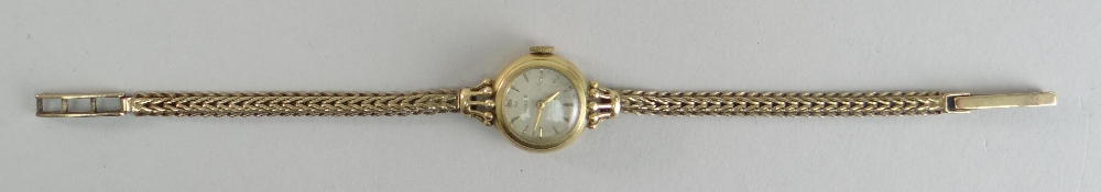 18CT YELLOW GOLD LADIES ROLEX PRECISION WRISTWATCH, the inside cover marked 'R. W. Co Ltd' and - Image 2 of 4