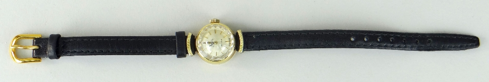 18K YELLOW GOLD LADIES OMEGA AUTOMATIC DE VILLE WRISTWATCH, numbered to inside of back cover ' - Image 2 of 4