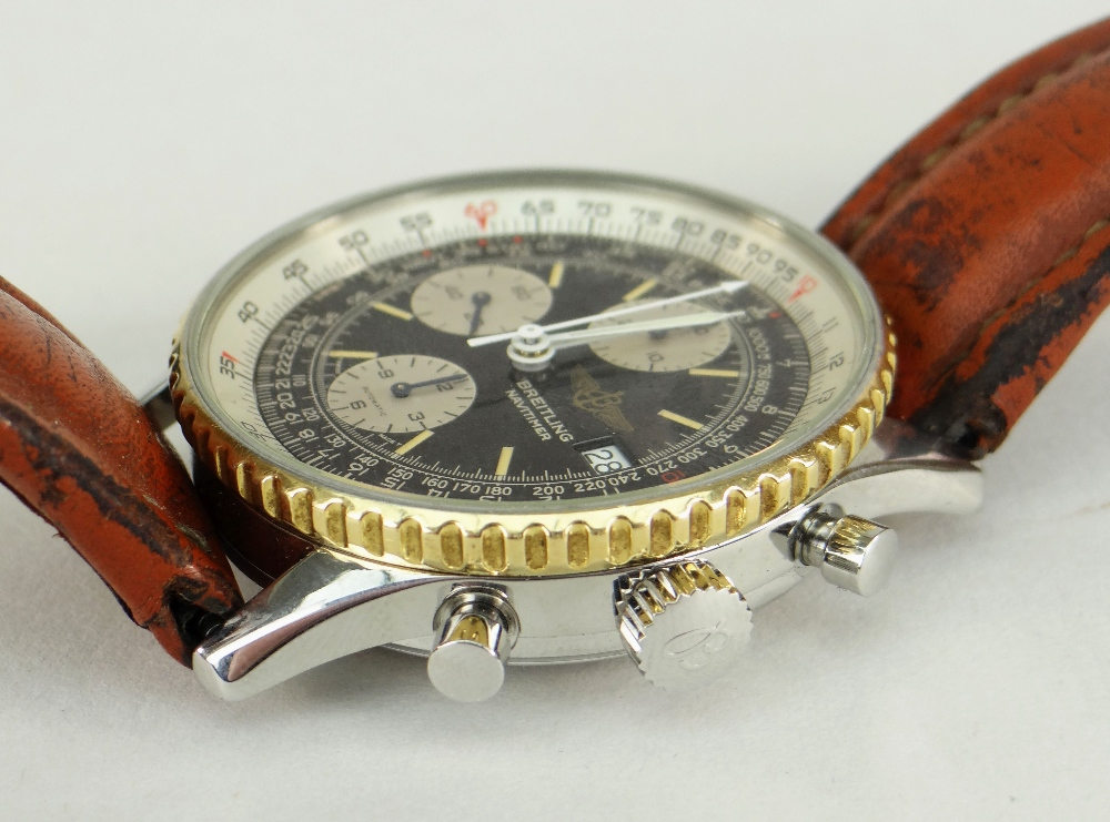 BREITLING NAVITIMER FIGHTERS EDITION STAINLESS STEEL CHRONOGRAPH WRISTWATCH, numbered to reverse ' - Image 4 of 7