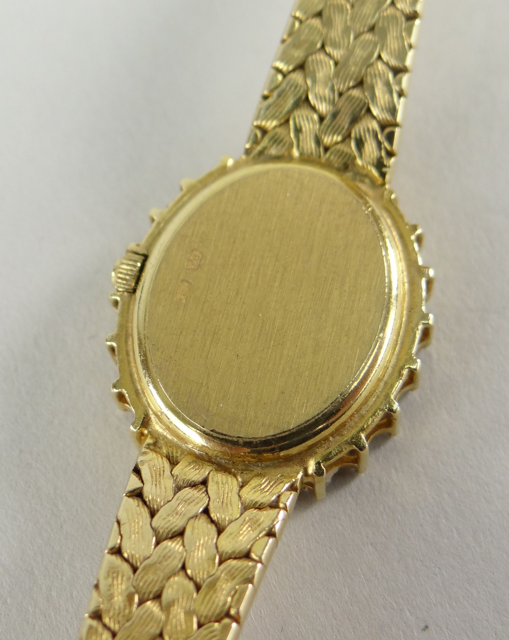 9CT YELLOW GOLD LADIES BUECHE-GIROD COCKTAIL WATCH, the oval dial surrounded by twenty-two - Image 4 of 4