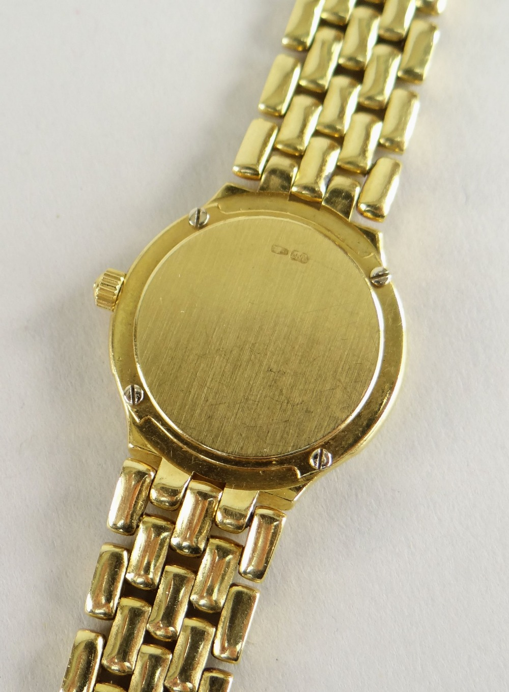 OMEGA 18CT (750) GOLD LADIES WRISTWATCH WITH 'BRICKWORK' BRACELET. 40.6 grams Condition Report: - Image 6 of 6
