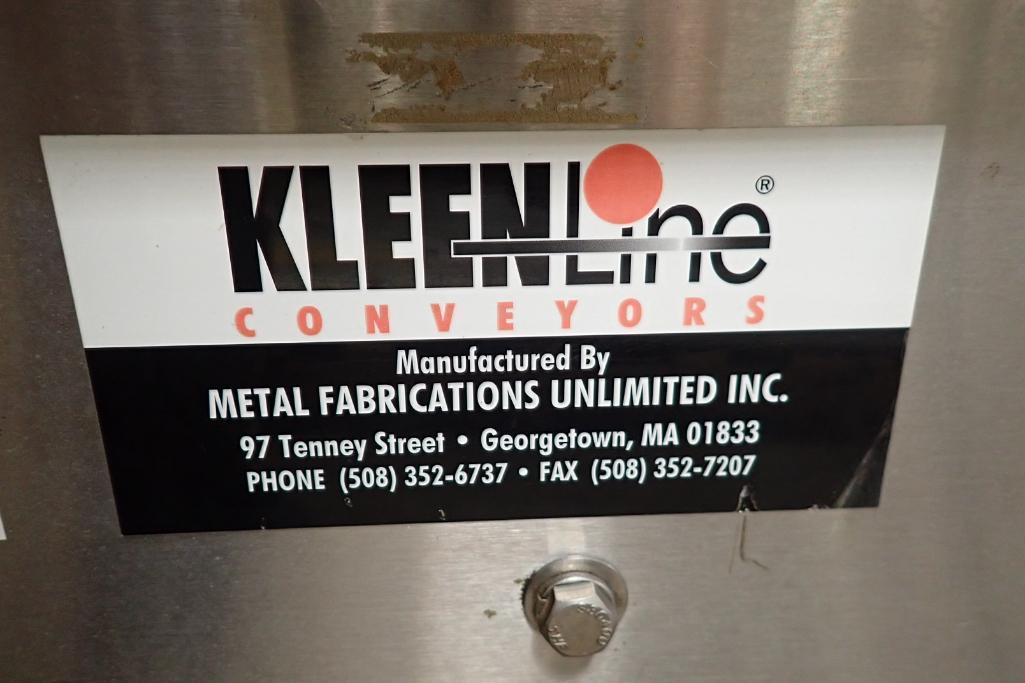 Lotto 101 - Kleenline belt conveyor {Located in Indianapolis, IN}