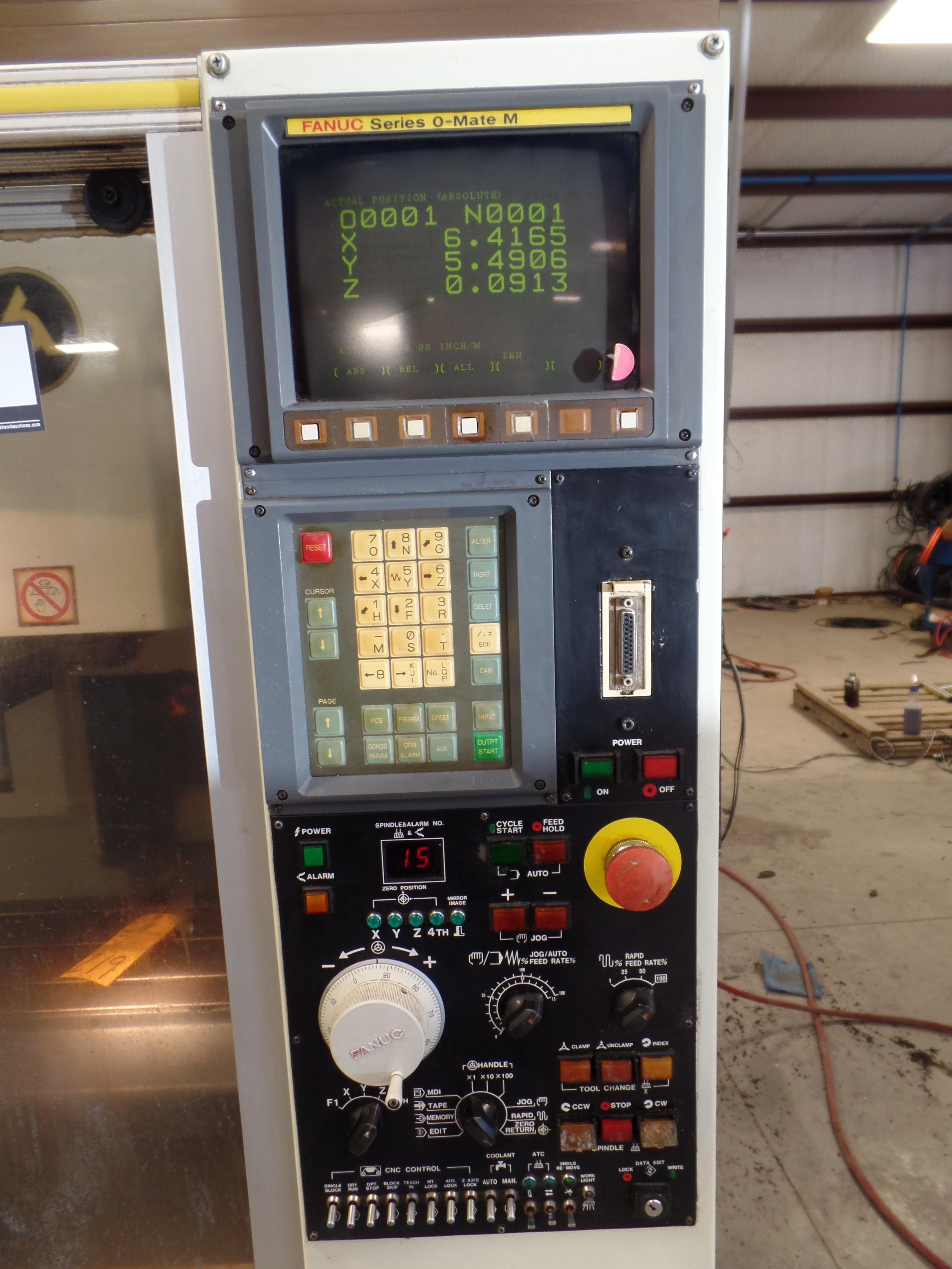 "Lot 22 - 1997Kitamura MyCenter 0 CNC Mill, Fanuc o-Mate control, travels 12"" x, 10"" y, 12'' z, NST 30 tape"