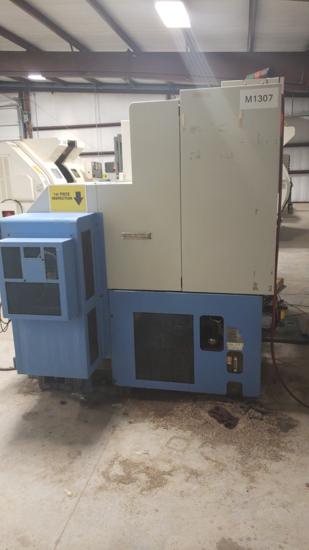 2004 Mazak Dual Turn 20 4 Axis Twin Spindle Twin Turret Opposed CNC Turning Center, rear discharge - Image 6 of 9