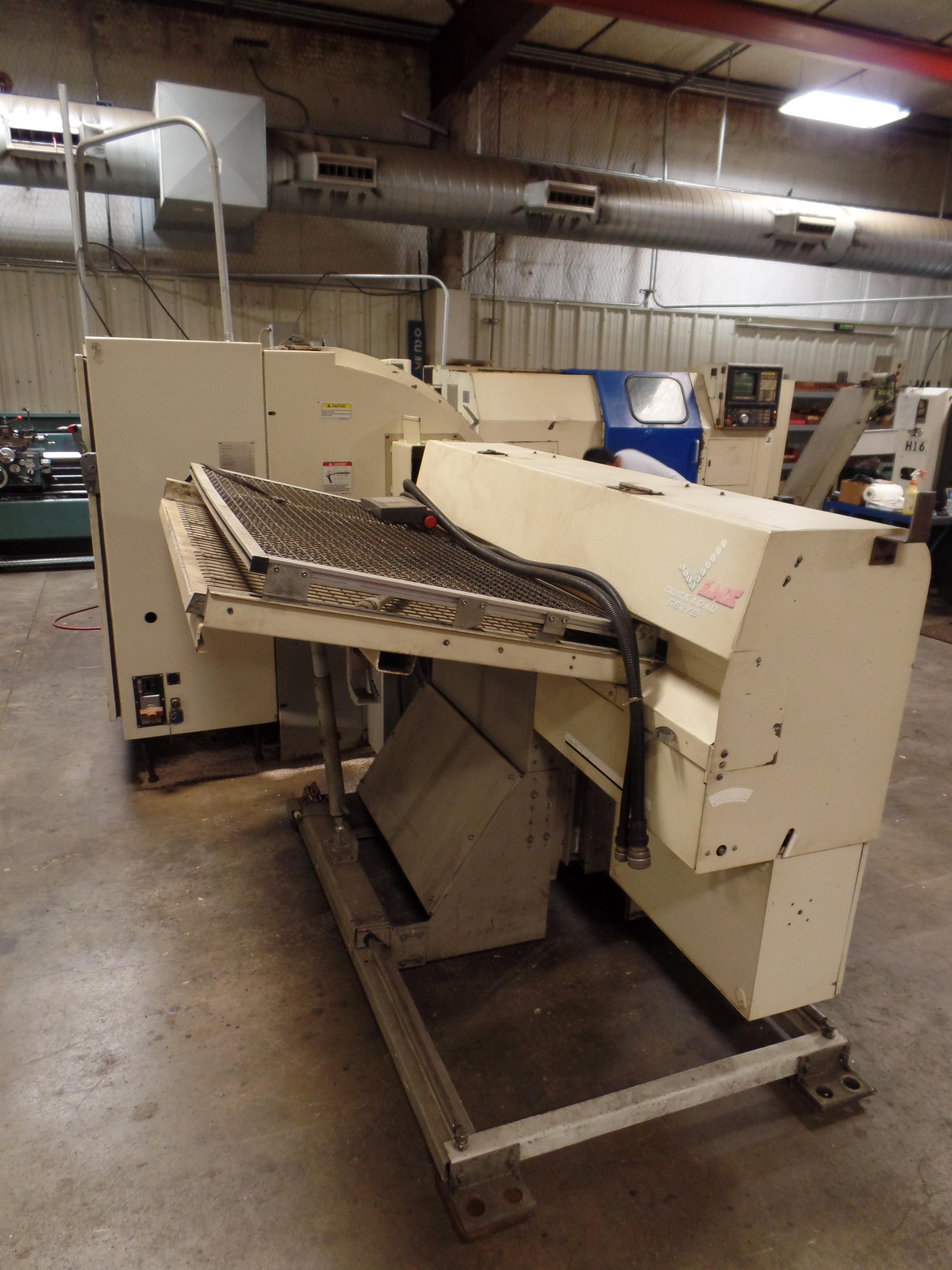 1999 Okuma Crown 762SBB big bore 2-axis CNC turning center with LNS bar feed, OSP700L control, parts - Image 11 of 16