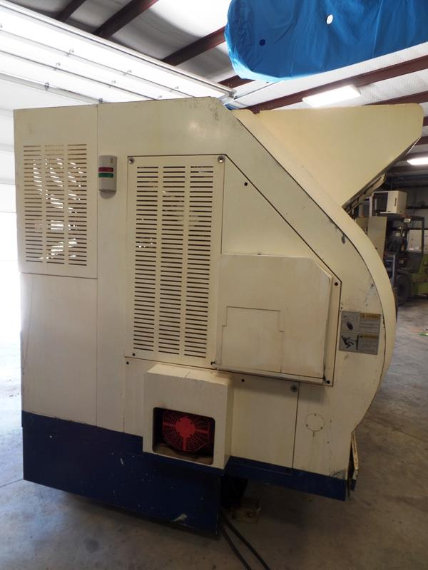 Lot 21 - 2005 Nakamura TW-20 Twin Spindle Twin Turret Opposed CNC Lathe, Fanuc 18iTB CNC control chip, side