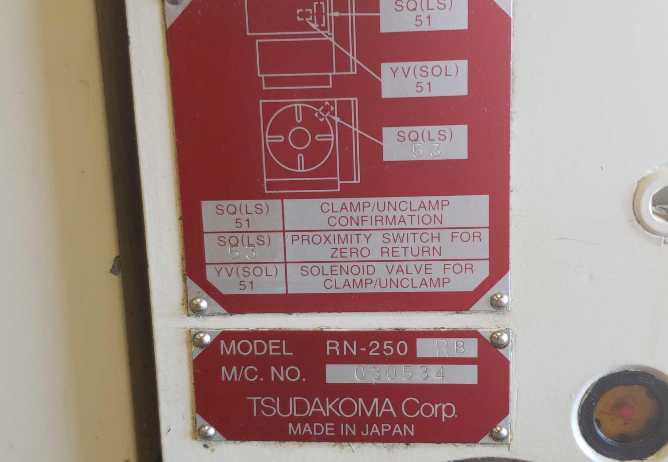 "Lot 49 - Tsudakoma RN-250 RB Full 4th Axis, 9-7/8"" platten, 1-3/4"" hole"